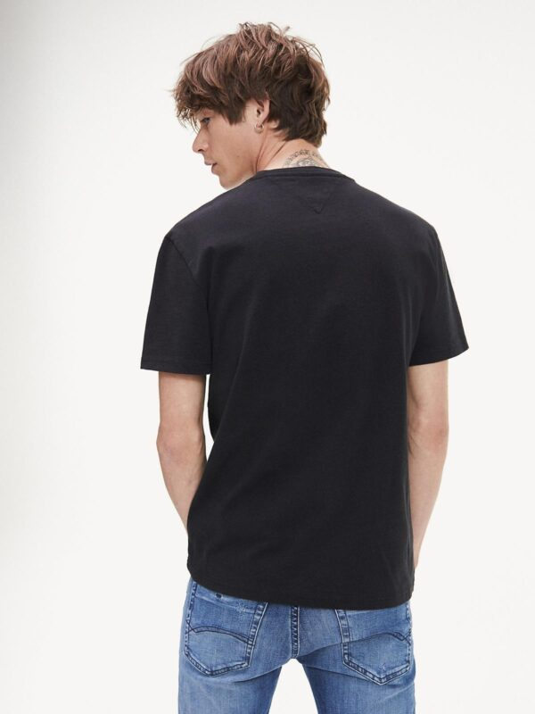 T-shirt Nera Flag Tommy Jeans
