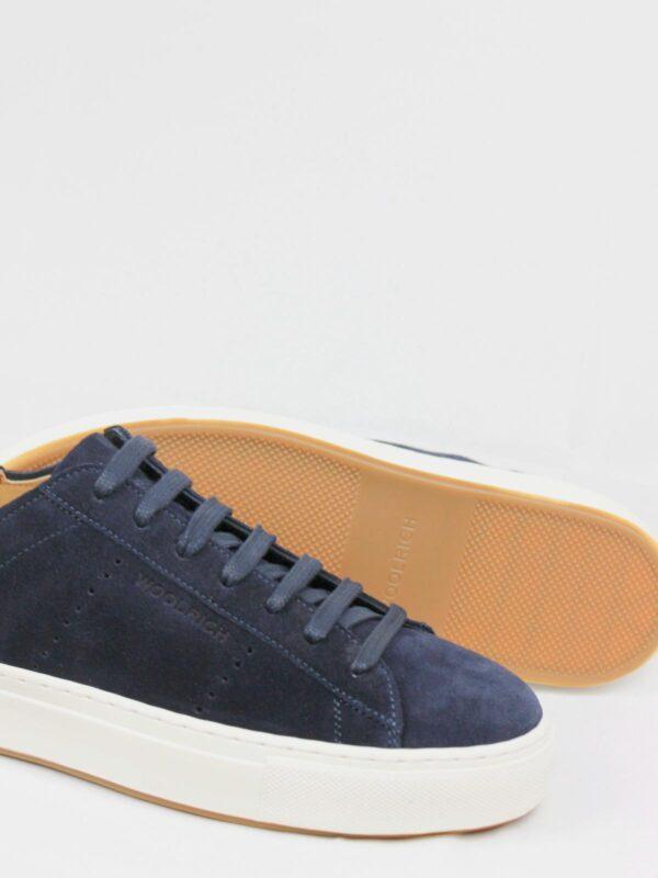 Sneakers Blu in Pelle Scamosciata Woolrich