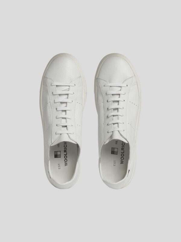 Sneakers Bianca in Pelle Leggera Woolrich