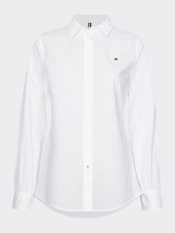 Camicia Bianca a Maniche Lunghe  in Cotone Tommy Hilfiger
