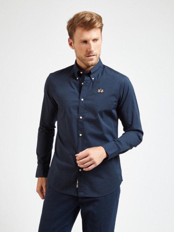 Camicia Blu Slim Fit La Martina