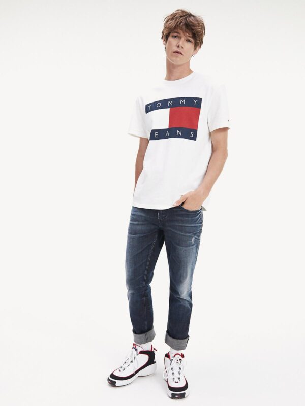 T-shirt Bianca Flag Tommy Jeans