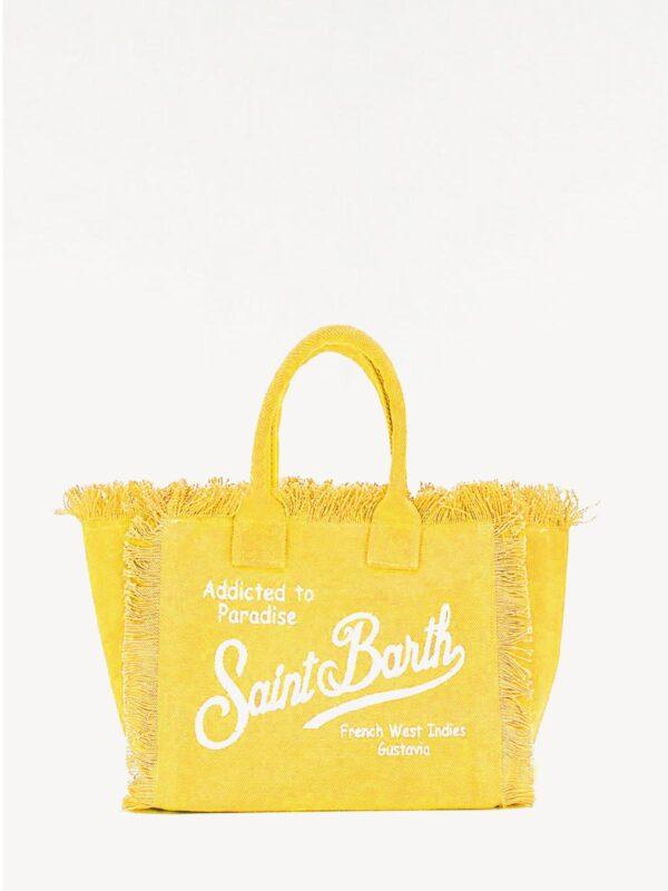Borsa Mare Saint Barth Vanity Yellow Grande