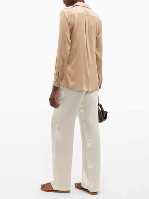 Camicia Cammello in Seta Max Mara