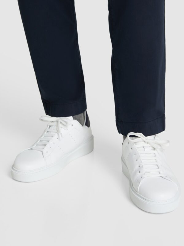 Sneakers Court Bianca in Pelle Woolrich