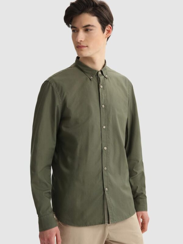 Camicia Verde in Oxford Woolrich