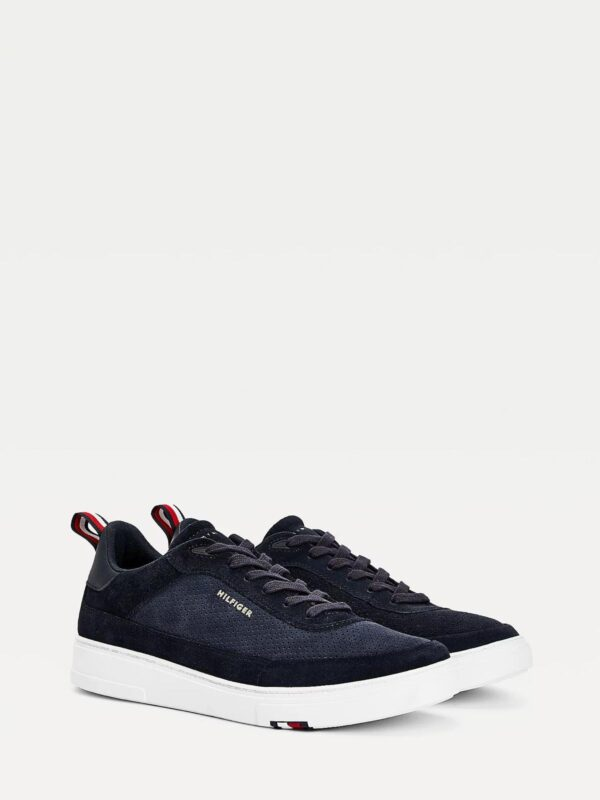Sneakers in Camoscio Blu Tommy Hilfiger