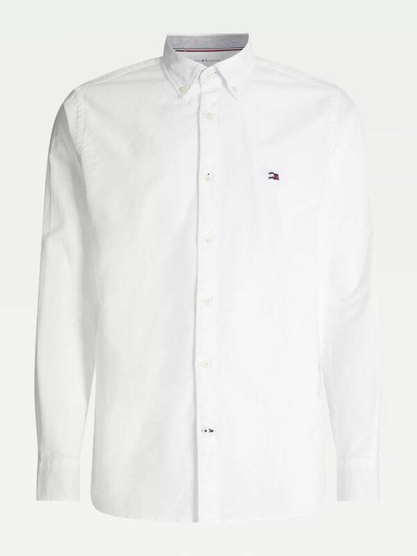 Camicia Bianca Oxford con Bandiera Tommy Hilfiger