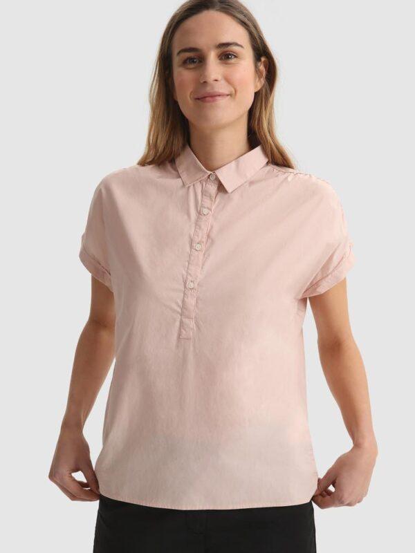 Blusa Rosa a Manica Corta Woolrich