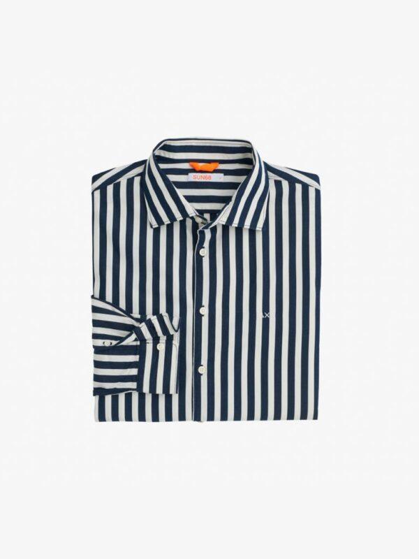 Camicia a Righe Blu Sun68