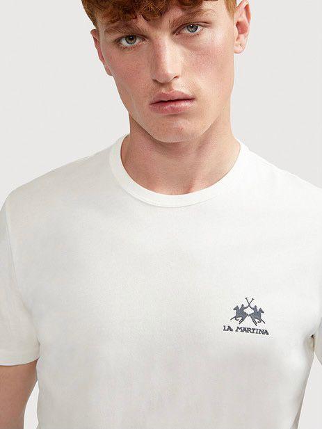 T-shirt Bianca Basic La Martina