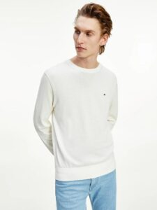 maglia bianca tommy hilfiger