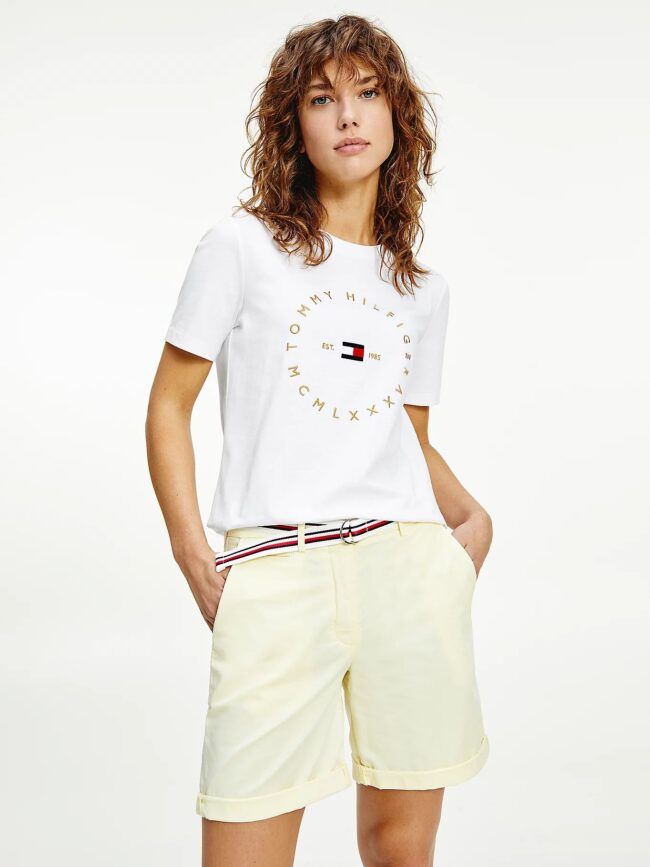 t-shirt bianca tommy hilfiger