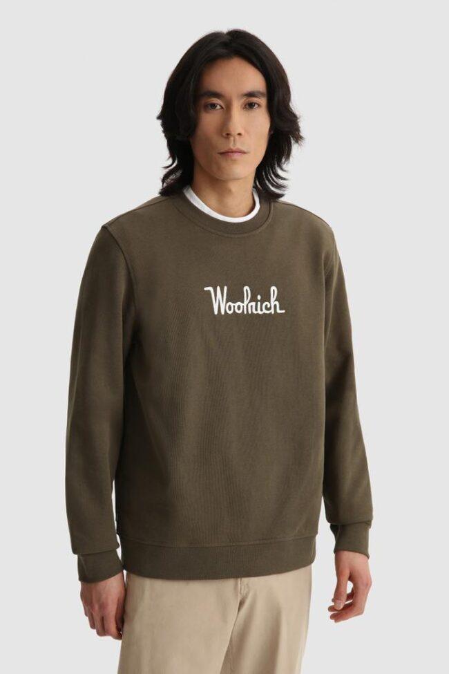 felpa verde woolrich