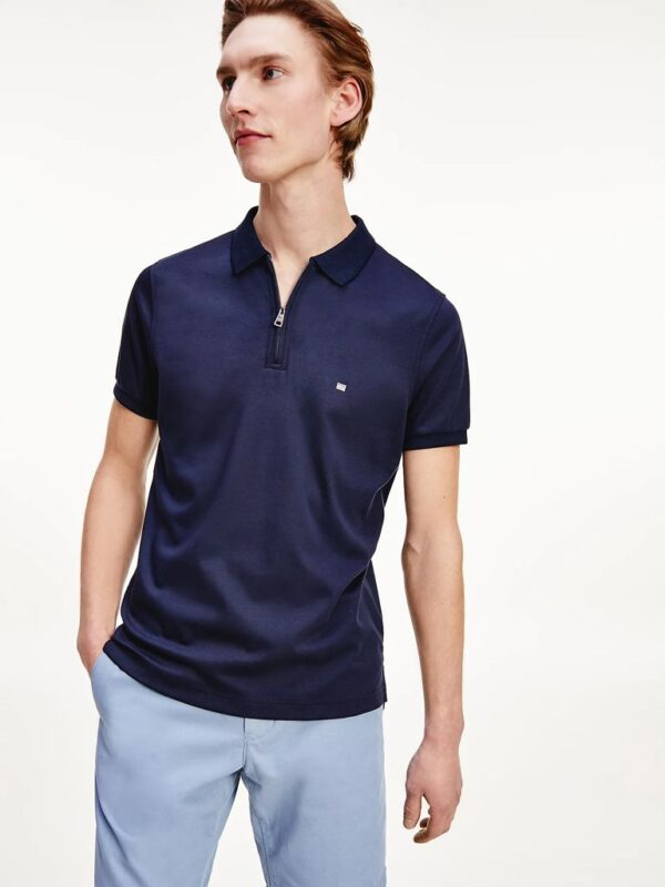 Polo con Zip Tommy Hilfiger