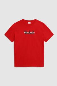 t-shirt rossa woolrich