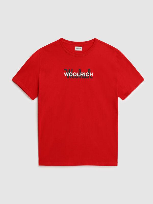 T-shirt Rossa Logata Woolrich