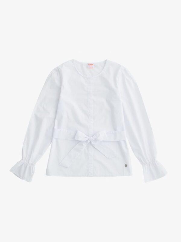 Camicia Bianca con Cintura in Vita Sun68
