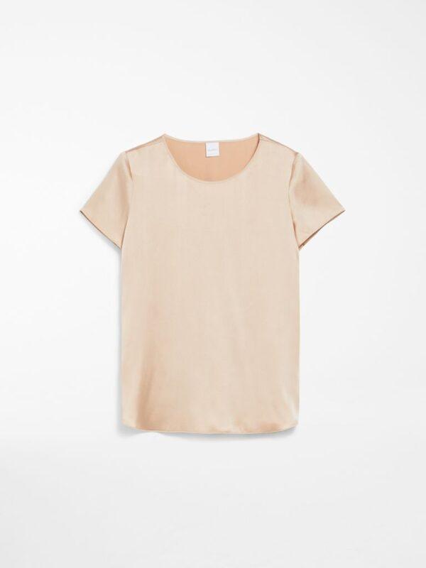 T-shirt Beige in Raso di Seta Max Mara
