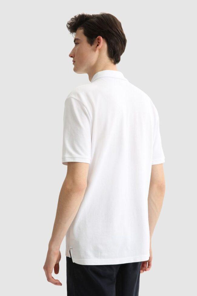 polo bianca woolrich