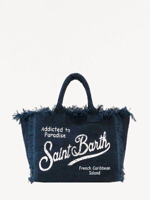 Borsa Saint Barth Vanity Blu Grande