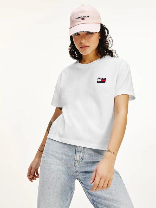 T-shirt Bianca con Logo Vintage Tommy Jeans