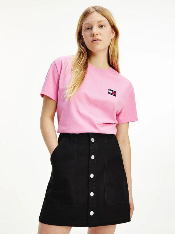 T-shirt Rosa con Logo Vintage Tommy Jeans