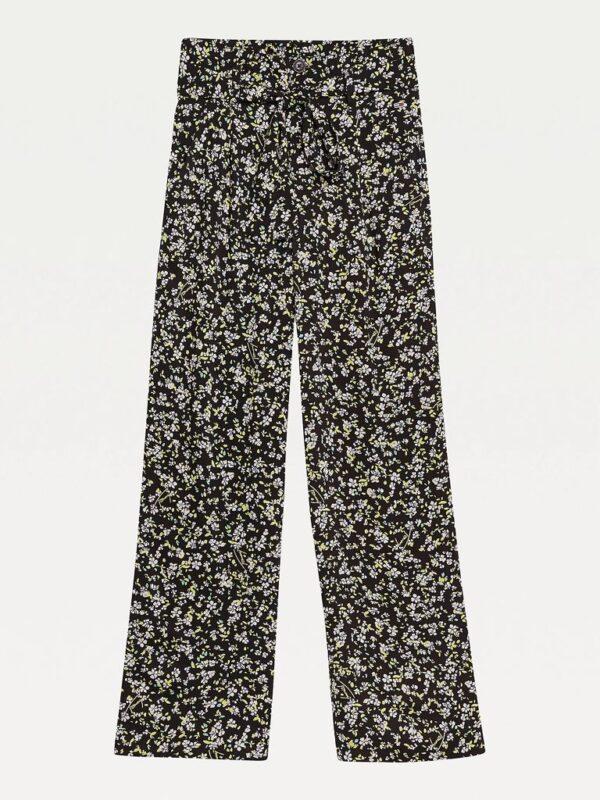 Pantaloni Floreali in Viscosa Tommy Jeans