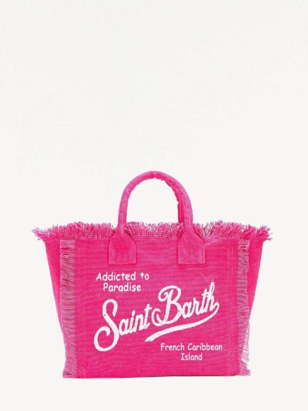 Borsa Saint Barth Vanity Fucsia Grande