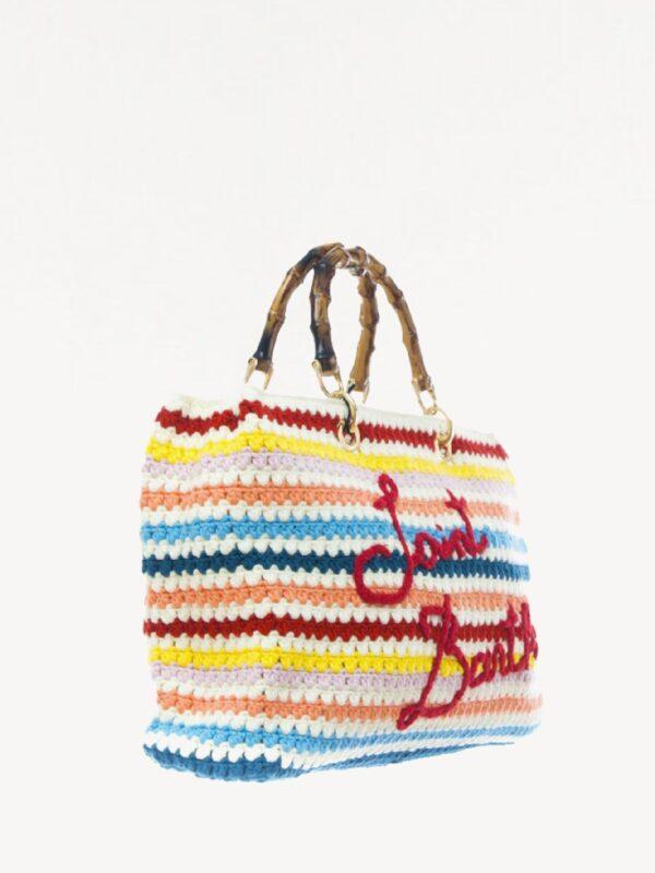 Borsa Crochet con Ricamo Saint Barth
