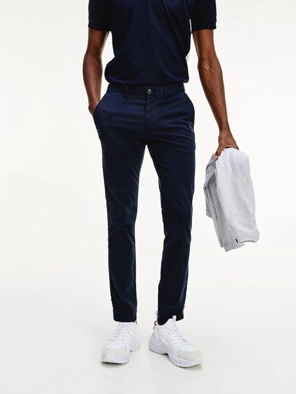 Pantaloni Chino Blu Tommy Hilfiger