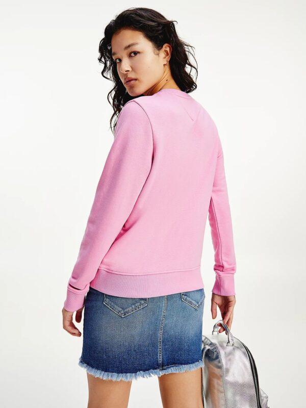 Felpa Rosa in Cotone Biologico Tommy Jeans