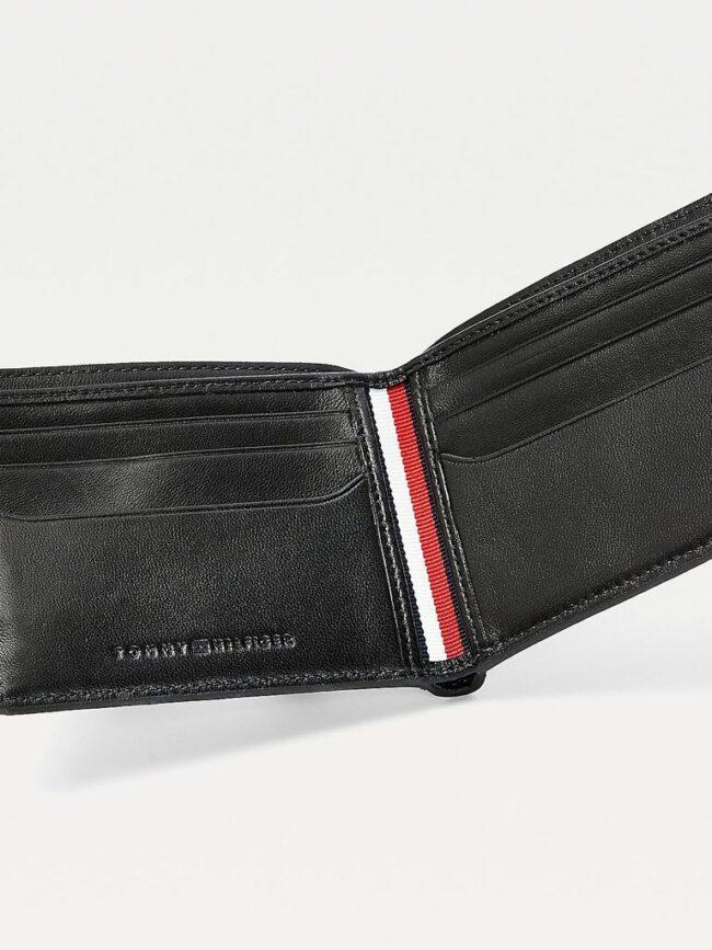 portafogli nero piccolo in pelle Tommy Hilfiger