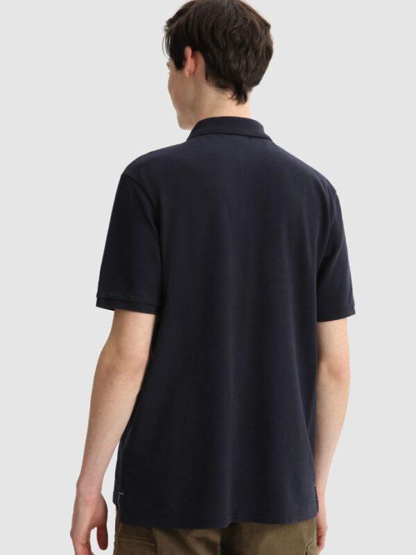 Polo Blu Basic Woolrich