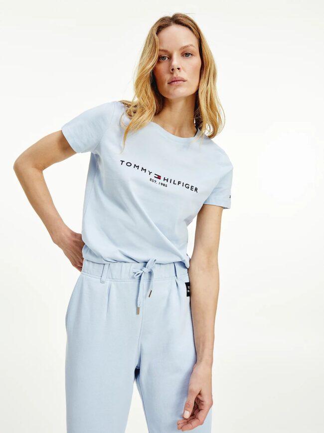 t-shirt celeste Tommy Hilfiger