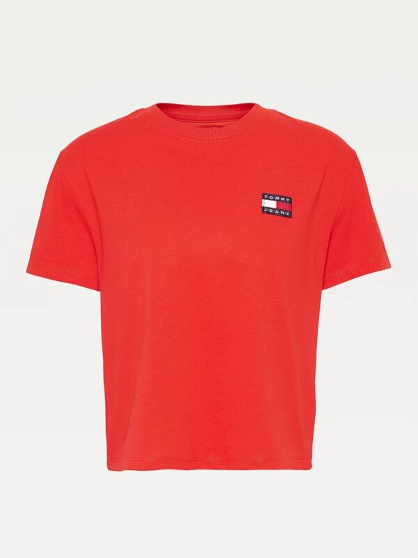 T-shirt Rossa con Logo Vintage Tommy Jeans