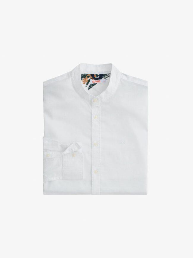 camicia bianca collo coreana sun68