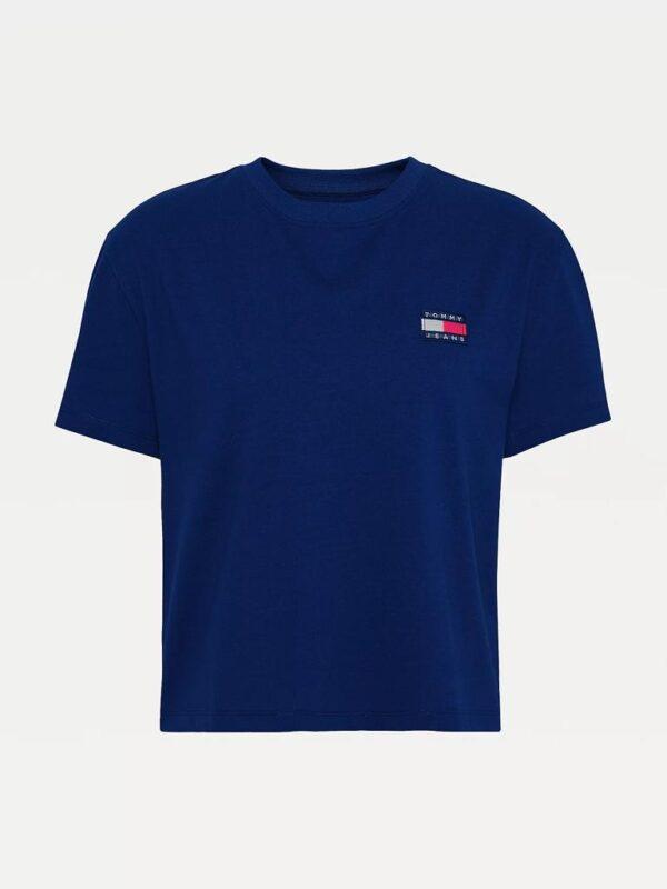 T-shirt Blu con Logo Vintage Tommy Jeans