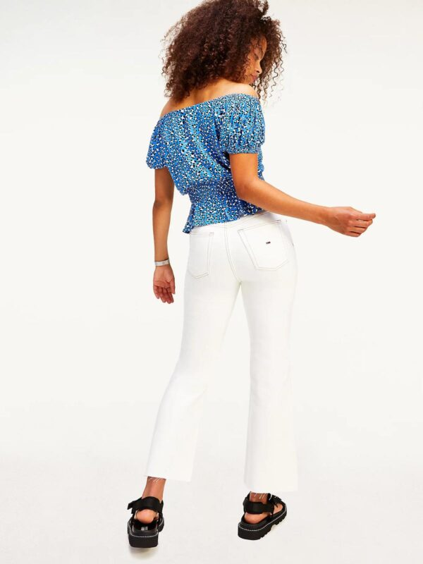 Top in Viscosa con Stampa Leopordata Tommy Jeans
