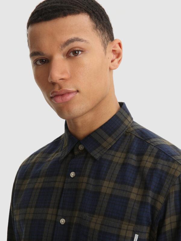 Camicia Check in Flanella di Cotone Woolrich