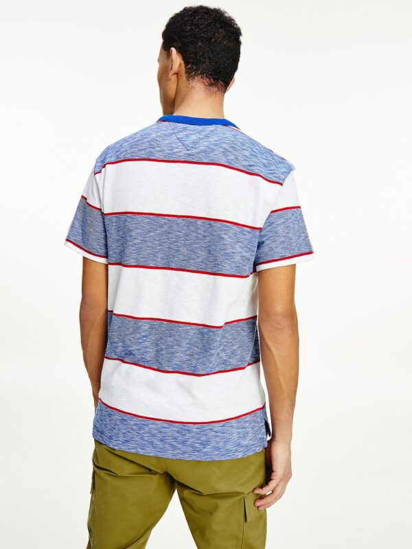 T-shirt in Cotone Biologico a Righe Tommy Jeans