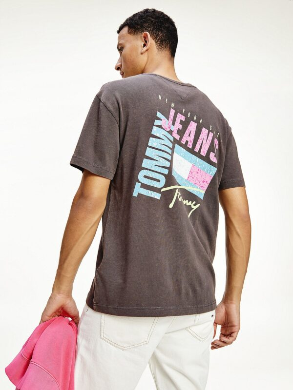T-shirt in Cotone con Loghi New York Tommy Jeans