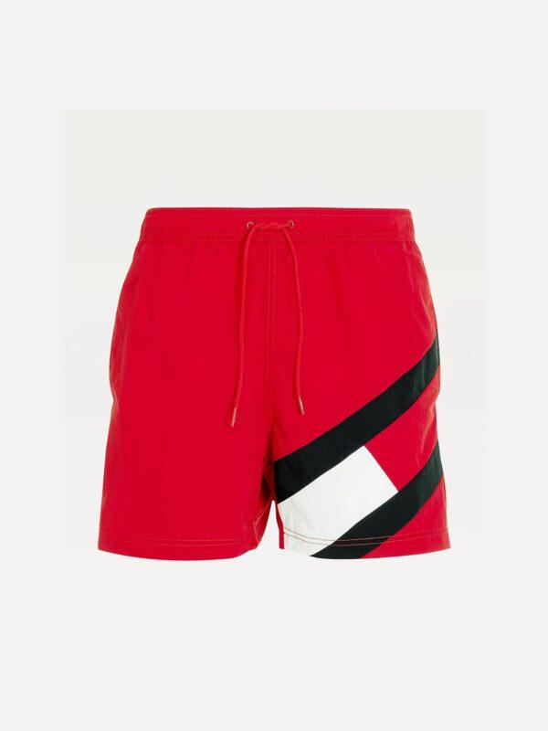 Costume Mare Rosso con Logo Tommy Hilfiger