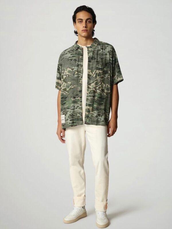 Camicia a Manica Corta Maui Verde Napapijri
