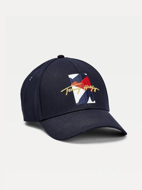 Cappello Blu TH Signature Astratto Tommy Hilfiger