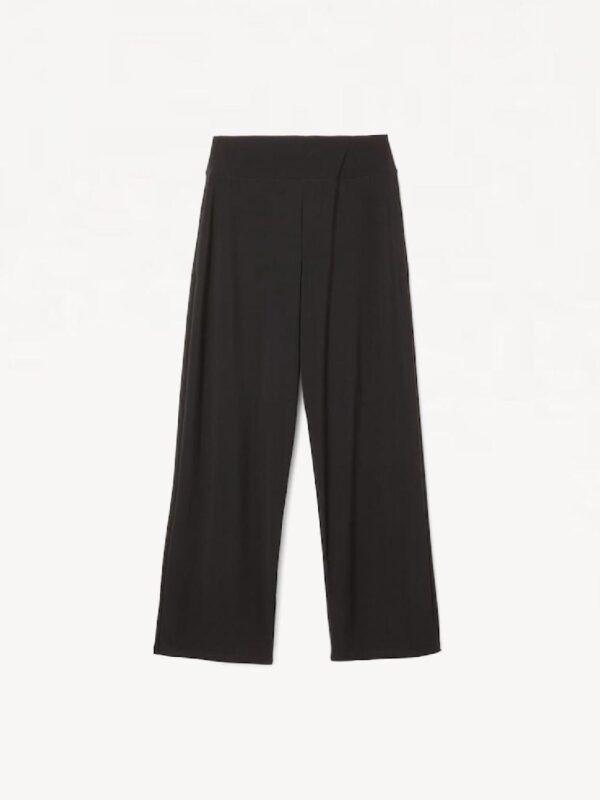 Pantaloni Culotte in Jersey Nero Max Mara