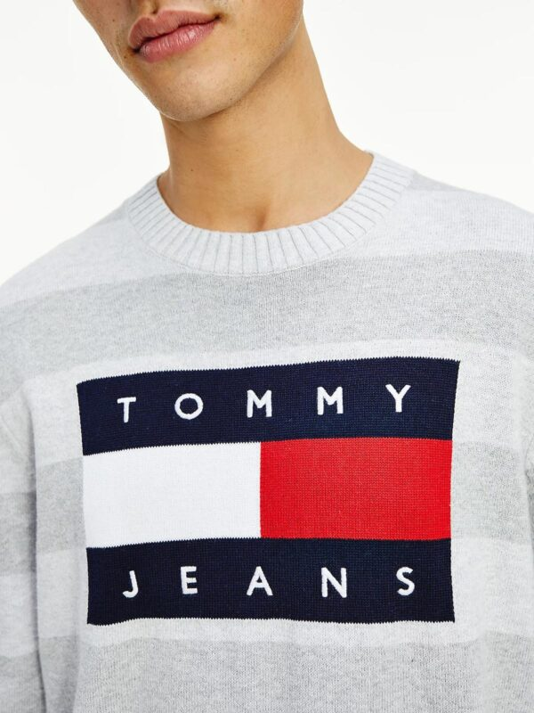 Maglia Grigia Relaxed Fit con Logo Tommy Jeans