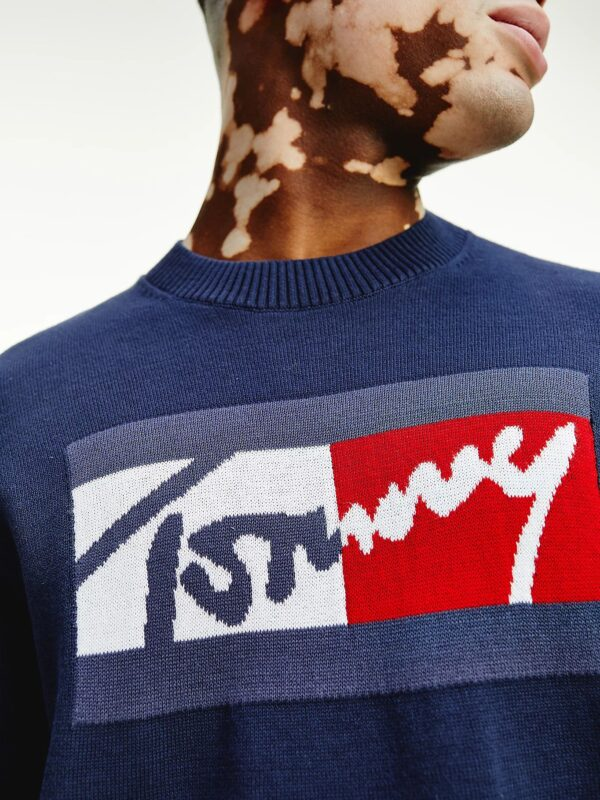 Maglia Blu Relaxed Fit in Cotone Tommy Jeans