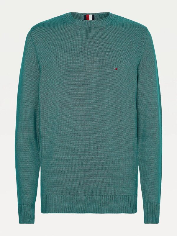 Pullover Verde in Maglia Grossa Tommy Hilfiger