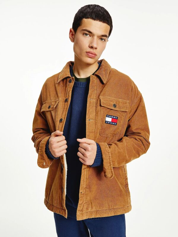 Giacca in Velluto Khaki Tommy Jeans